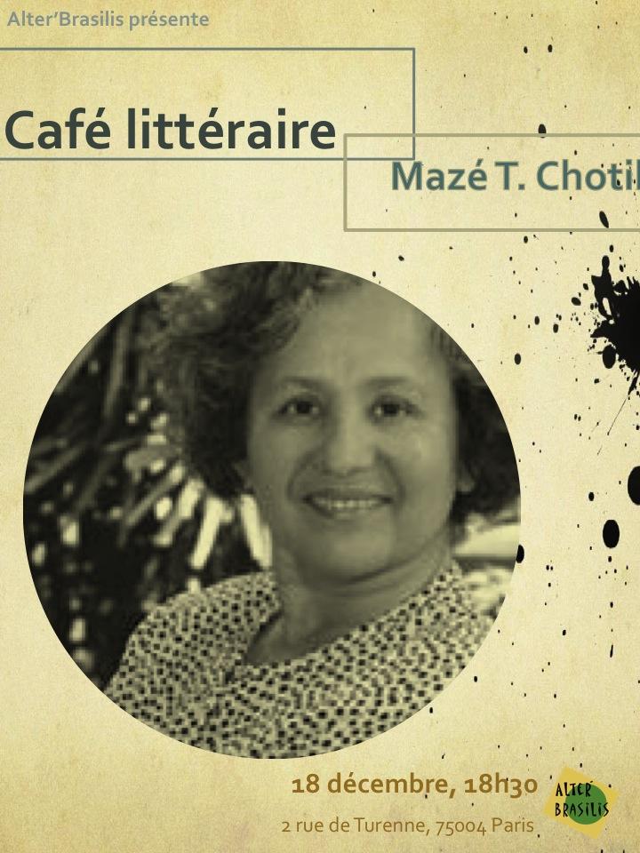 Café littéraire avec Mazé Chotil