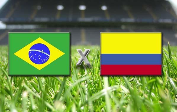 Match de la coupe du monde de football 2014 Brésil x Colombie